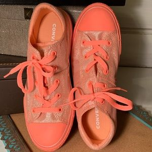 Converse Pink/Coral Sparkle Neon (S7)